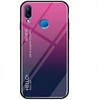TPU+Glass чехол Gradient HELLO для Xiaomi Redmi Note 7 / Note 7 Pro / Note 7s / Note 7 Pro / Note 7s