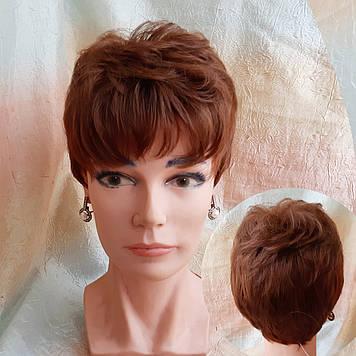 Короткий парик из термоволокна светло-каштановый 2763t-30