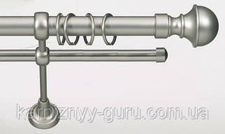 Карниз для штор двойной ø 25+16 мм, наконечник Бостон
