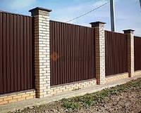 Профнастил стеновой ПС-8 коричневый, тол. 0,45 мм, фото 1