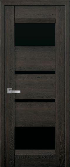 Дверь межкомнатная c черным стеклом IBIZA