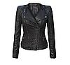 Женская весенняя демисезонная куртка косуха эко-кожа