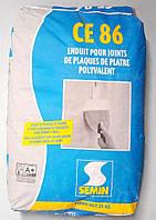 Шпаклевка Семин ЦЕ 86 финишная гипсовая для заделки швов гипсокартона 25 кг.