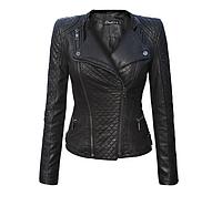 Женская весенняя демисезонная куртка косуха эко-кожа S