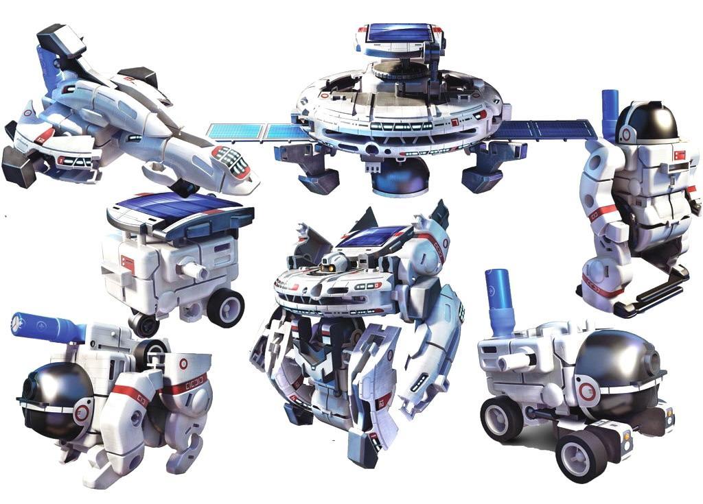 Детский Технический Конструктор Spase Fleet 7 в 1 на солнечной батарее (CuteSunlight 2117)