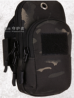 "Чехол-сумка для телефона (5.5"") PROTECTOR PLUS A019 на руку / предплечье (вело / бег / туризм / рыбалка)"