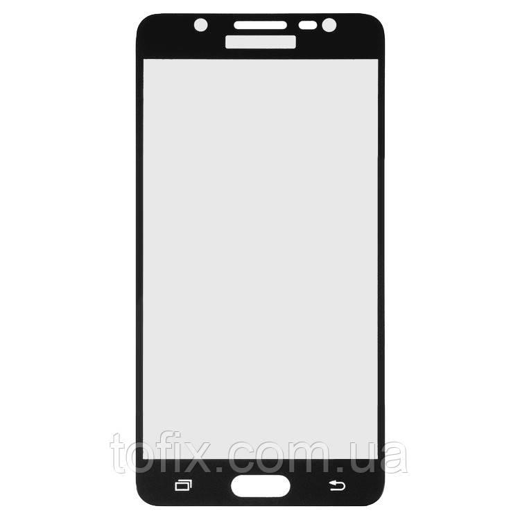 Защитное стекло 3D на весь экран для Samsung Galaxy J5 (2016) j510, черный