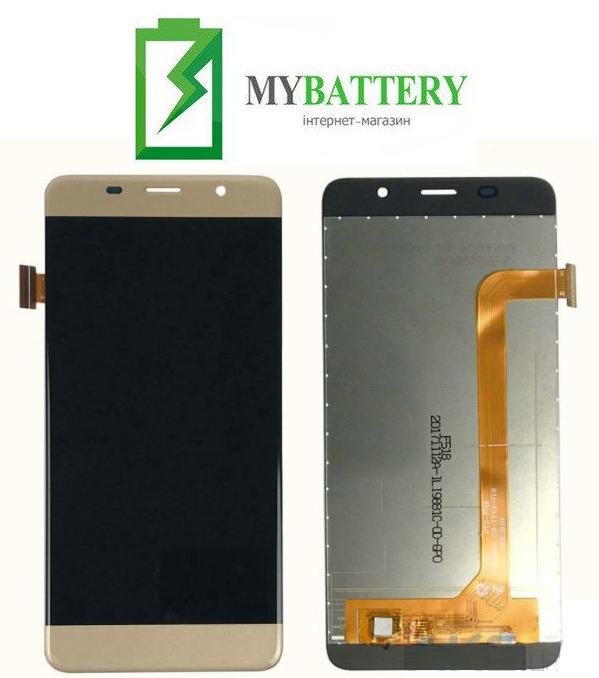 Дисплей (LCD) Bravis S500 Diamond с сенсором золотой