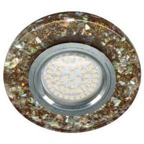 Светильник встраиваемый с LED подсветкой Feron 8585-2  коричневый под лампу Mr16, фото 2