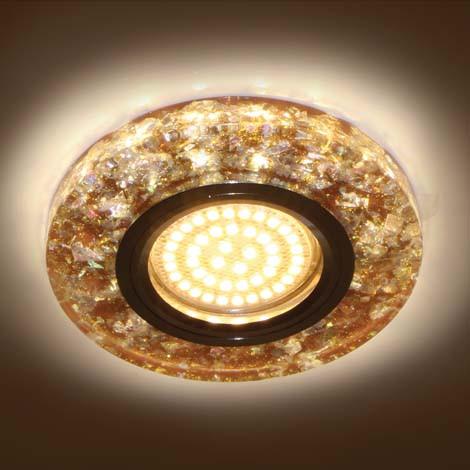 Светильник встраиваемый с LED подсветкой Feron 8585-2  коричневый под лампу Mr16