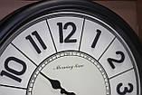 Часы круглые настенные с большими цифрами, диаметр 39 см, черные, фото 2