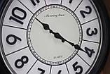 Часы круглые настенные с большими цифрами, диаметр 39 см, черные, фото 3