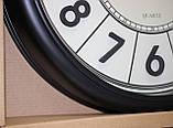 Часы круглые настенные с большими цифрами, диаметр 39 см, черные, фото 4