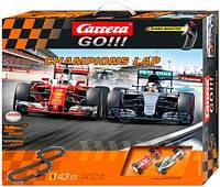 Автотрек Carrera Go Flying Lap дворівнева гоночна траса звуки світ 2 машинки Ferrari і Mercedes в коробці