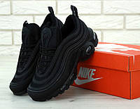 Кроссовки Nike Air Max 97 Plus Triple Black, фото 1