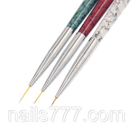 Набор кистей-лайнеров для дизайна ногтей, Мраморный, фото 2