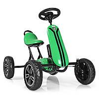 Детский педальный карт на EVA колесах, Bambi M 3622E-5 зеленый Детская машина на педалях