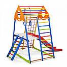 Акция! Деревянный Детский спортивный комплекс с горкой Спортбейби KindWood Color Plus 2 SportBaby, фото 4