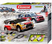 Дитячий гоночний Автотрек Carrera let's GO Rally траса 3.6 м 2 машинки Citroën і MINI в коробці Carrera