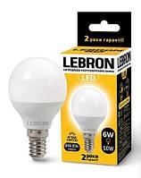 Лампа світлодіодна 6 Вт, E14, 480 Lm, 240*