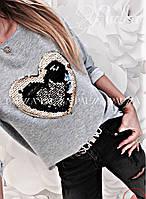 Женский свитшот сердечко, фото 1