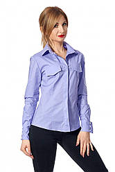 Рубашка цвет лавандовый  444.02