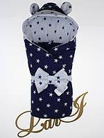 Демисезонный конверт-одеяло Микки, темно-синий/белый, звезды