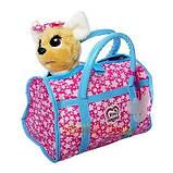 Собачка в сумочке Кикки (аналог Chi Chi Love) M 3835-N-UA сумка, бант светятся в темноте укр. яз., фото 2