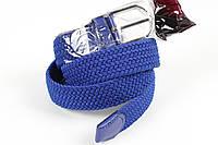 Ремень плетенка резинка на шпеньке 35 мм ярко-синий, фото 1