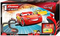 Автотрек First Тачки 3 Carrera набір з машинками Блискавка Маккуїн і Крус Рамірес дворівнева траса в коробці