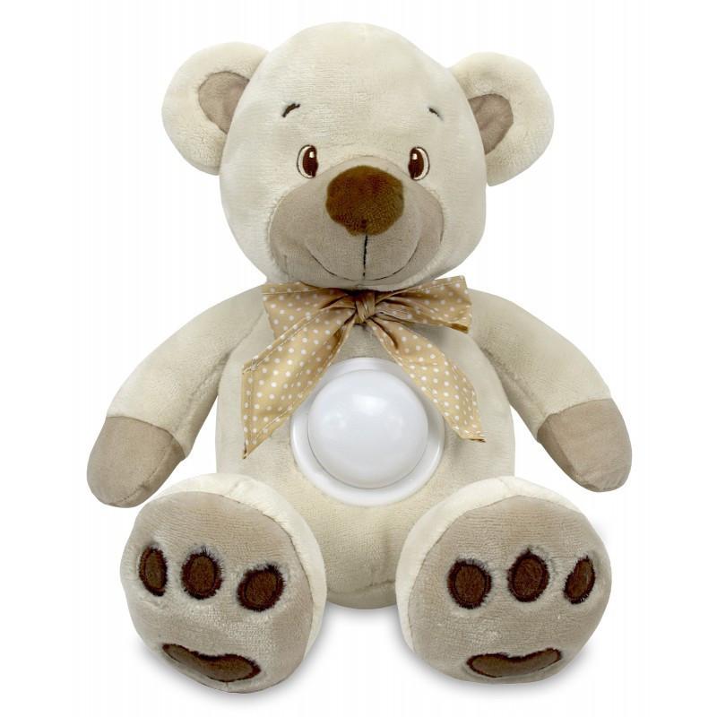 Проектор музыкальный Baby Mix Медведь Puff bear STK-13138 бежевый