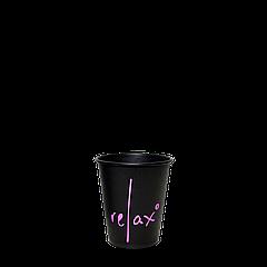 Стакан бумажный RELAX Черный 110мл. 50шт/уп (1ящ/20уп/1000шт)