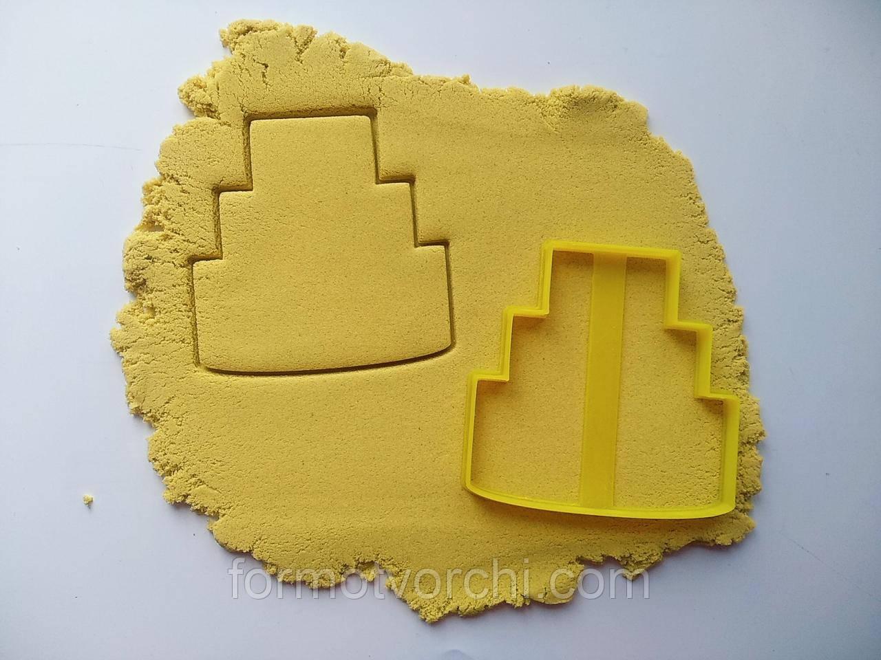 """3D формочки-вырубки для пряников """"Свадебный торт"""""""