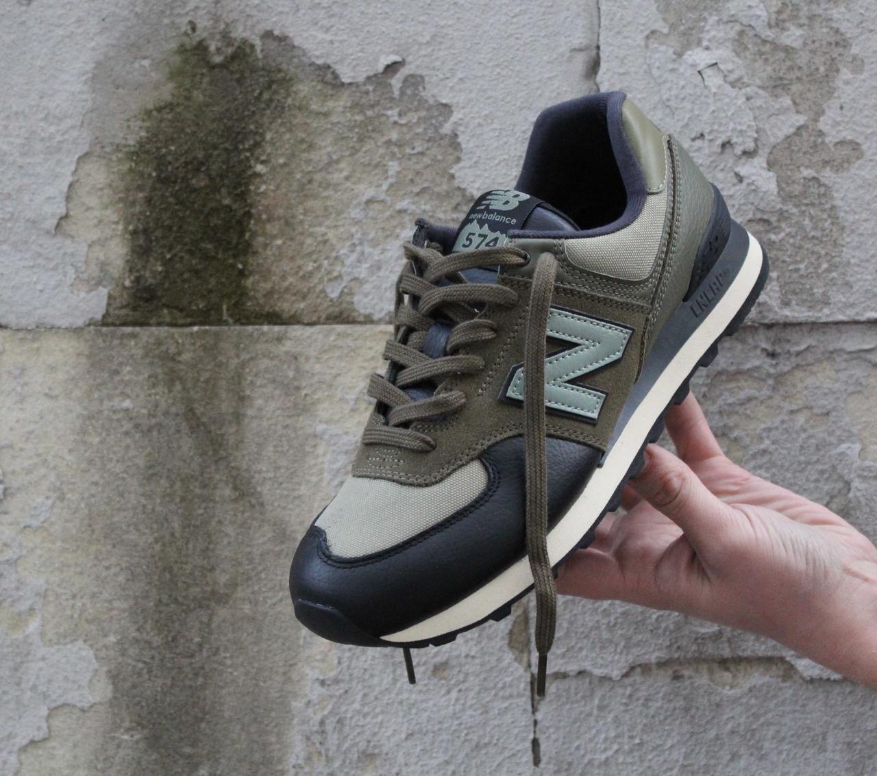 33b53f5c1 Оригинальные кроссовки New Balance 574 в сетку хаки ML574LHA - Shopchik в  Одессе