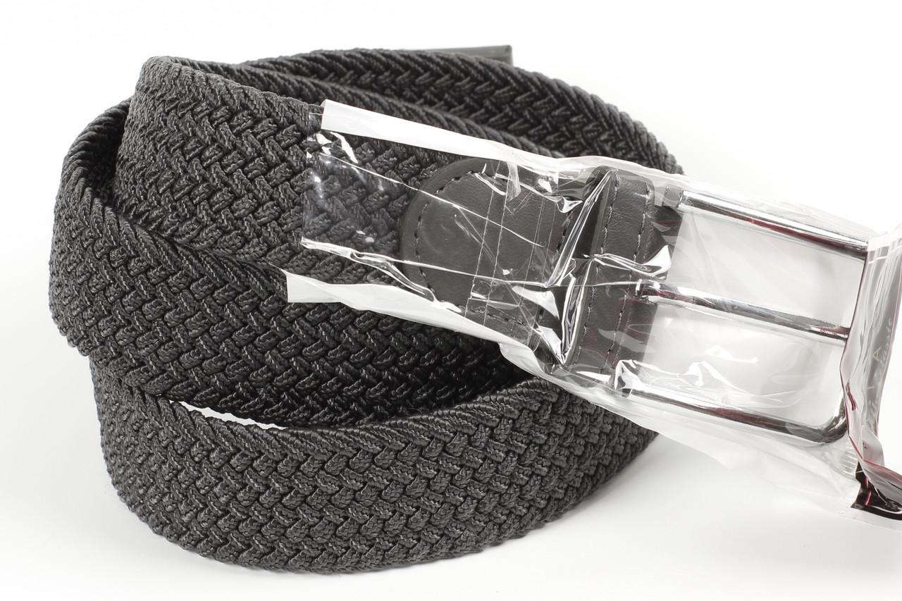 Ремень плетенка резинка на шпеньке 35 мм серый