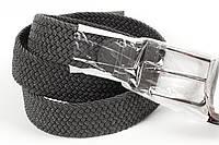 Ремень плетенка резинка на шпеньке 35 мм серый, фото 1
