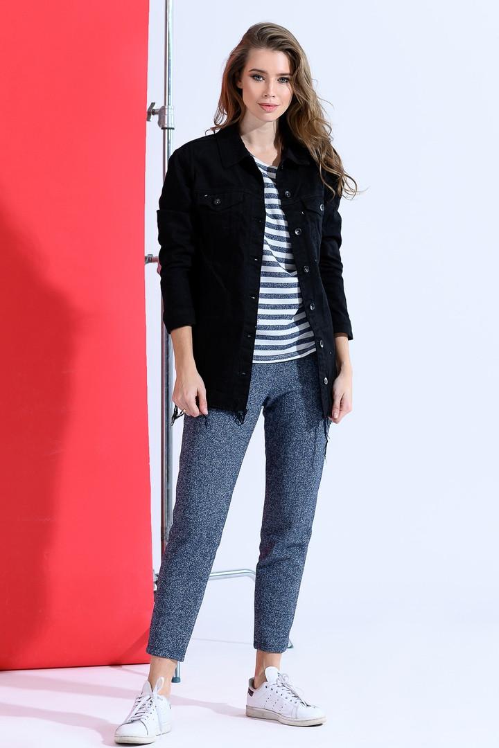 Сильная женская джинсовая куртка 42-46р.
