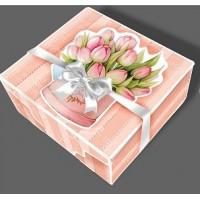 Подарункова складна коробка, шкатулка з бантом, подарункова упаковка