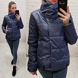 Куртка весна/осінь, плащівка лак, модель 1004, колір - темно синій