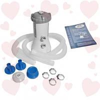 Intex 28604 Картриджный Фильтр-насос KRYSTAL CLEAR для бассейнов на более 366 см, 2006 л/ч, картридж А
