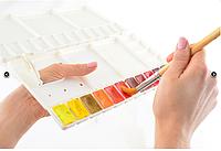 Пенал палитра художественный для акварельных красок, 270х260мм