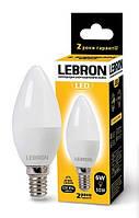 Лампа світлодіодна свічка 6 Вт, E14, 480 Lm, 220*
