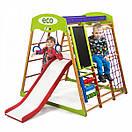 Акция! Деревянный Детский спортивный комплекс для квартиры  с горкой Спортбейби Карамелька Plus 3  SportBaby, фото 3