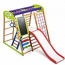 Акция! Деревянный Детский спортивный комплекс для квартиры  с горкой Спортбейби Карамелька Plus 3  SportBaby, фото 5