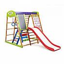 Акция! Деревянный Детский спортивный комплекс для квартиры  с горкой Спортбейби Карамелька Plus 3  SportBaby, фото 6