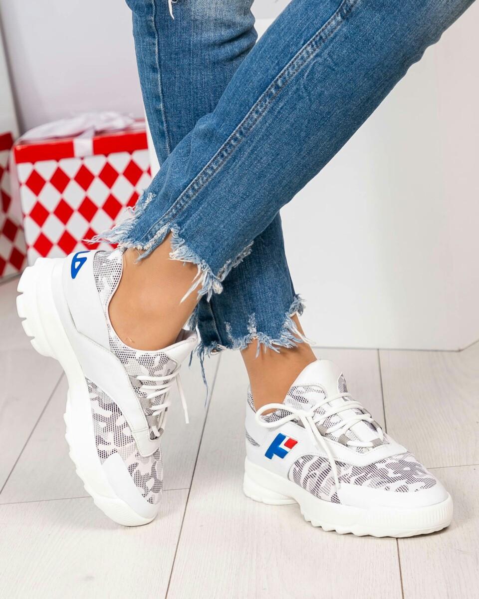 Кроссовки женские в стиле Fila кожа белые