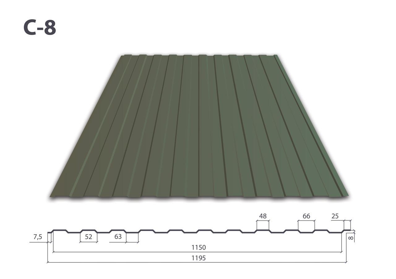 Профнастил С-8 полимер (0.35 мм)
