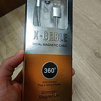 Магнитный кабель usb X-Cable Micro usb magnetic 1м юсб для зарядки телефона