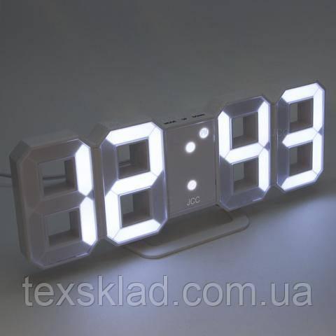 Электронный часы EL-6609 white (22.5x8см)
