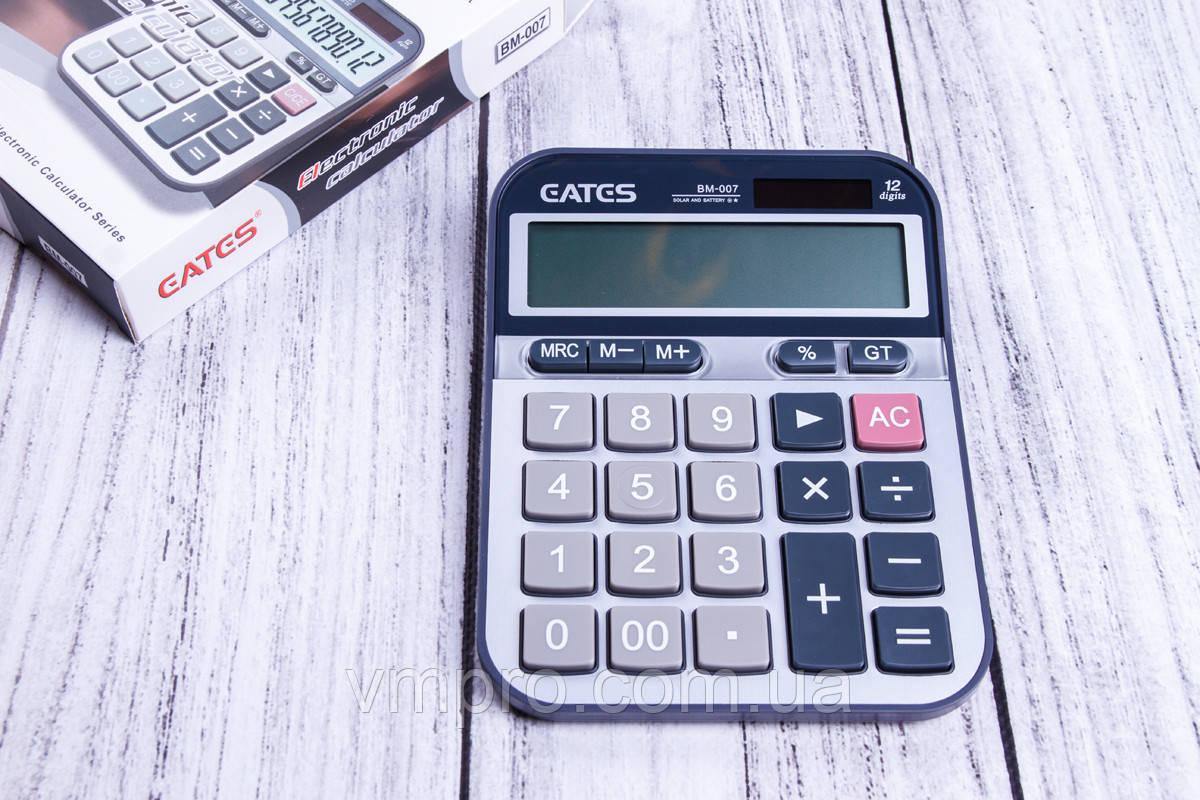 Калькулятор EATES BM-007,12 разрядный, 2 вида питания, калькуляторы электронные